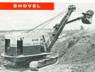 Bucyrus-Erie 30-B cable shovel