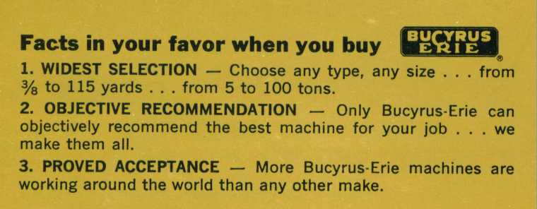 Bucyrus-Erie facts